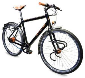 Vrouwtje op de fiets
