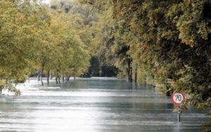 Wie het eerst op de begraafplaats is, overstroming, regenval